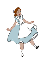 Wendy Darling As Alice Falling by darthraner83