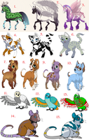 Mass Free Animal Adopts - OPEN by CGDragon