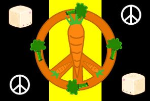 Vegetarian Peace Flag by Red-MarshmalloW
