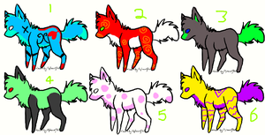 Random point adoptables. (4 LEFT) by asahiazumane