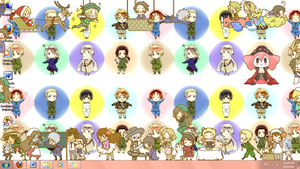 Hetalia Shimeji Invasion!!! by o0v0o