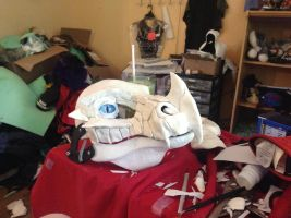 More Sculptering!- Frost dragon mask by BlueEyes9