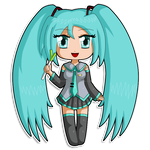 Vocaloid Chibi: Miku by izka197