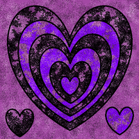 Random Purple Hearts :3 by CreativityBlossom