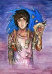 Oli and Sonic by Kagoe