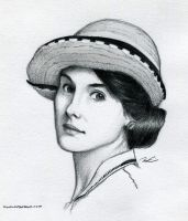 Lady Mary Crawley by RobtheDoodler