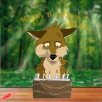 Happy wolf birthday by Swiftlook