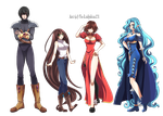 Fullbody Commission : The Main Four by Poltergeist-El