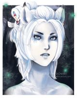 White Wolf by MissPinks