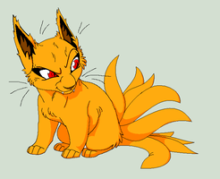 Kyuubi I had made for me by SavannaEGoth by RayTheBishie