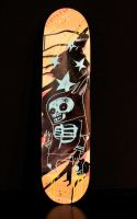 Death Rabbit SK8 Deck by JimMahfood-FoodOne