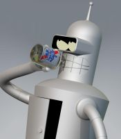 Pabst Blue Robot by Doomsday-Device