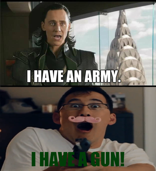 Loki vs. Markiplier: I HAVE A GUN! by StoneHot316