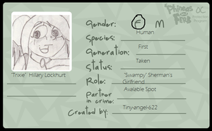 PnF: Trixie OC ID card by Tiny-angel-622