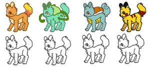 Pokemon Dogs Adopt 5pts+ by PacificIslanderGirl