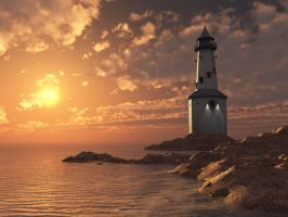 The Lighthouse by thedigitalcrayon