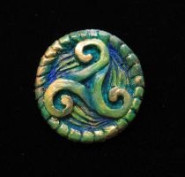 Celtic Triskele Pin by DragonCid