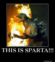 This is Sparta! Godzilla by Meowmeowmeow21