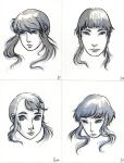 Girls' Heads by chappy-lips