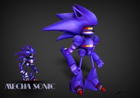 Mecha Sonic by BradML