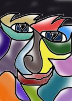 Abstract Face by Silver-Dew-Drop