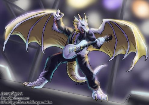 Dragon on the stage by J-C