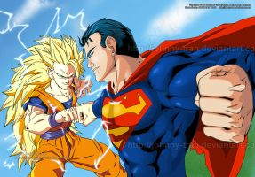 Goku Vs Superman by Johnny-Tran