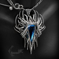 RNIALL NOHCTU - Silver, Blue Quartz and Topaz. by LUNARIEEN
