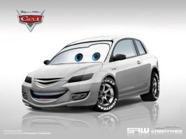 Mazda3 disneyCARS by yasiddesign