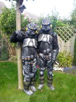 Me and my friend as Helghast from Killzone by michelleable