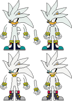 Silver the Hedgehog Sprites by mike1967-now
