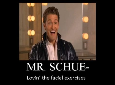 Mr. Schue's magical face by Hyper-Knux