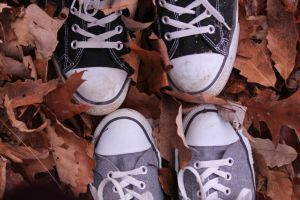 Leaves and Converse by LaVolpeRossaVenezia