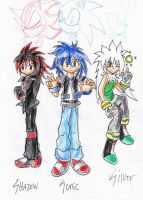Sonic, Shadow, and Silver by DarkThief2008