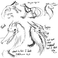 Wolf Study? What is this I don't even... by OryxPixie