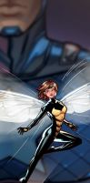 Wasp Panel Art by RichBernatovech