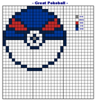 XSTITCH PATTERN Great Pokeball by wilterdrose