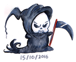 Monster a Day Challenge - Grim Reaper by TopperHay