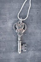 Silver Owl Key Necklace - Limited Holiday Special by MythicalFolk