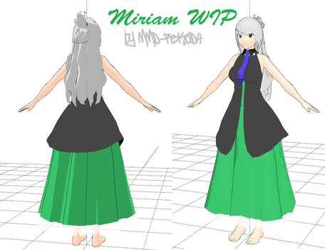 MMD WIP: Miriam -engloid- by MMD-R3K0D4