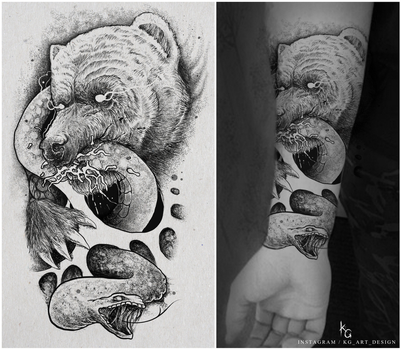 Tattoo commission by KGArtDesign