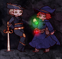 [AT] Witch and Adventurer by Sapphlet