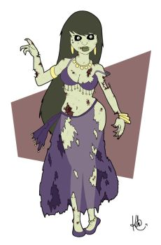 Pin-Up Zombie Bellydancer by KilowattKatie
