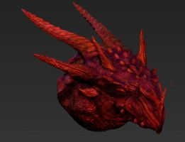 Red Dragon 3d sculpt WIP (2) by Samaelt666