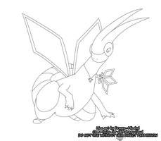Comm - Flygon Line Art by Dragon-Minded