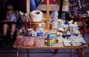 On the Artist's Table by Lydia-distracted