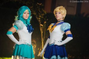 Sailor Uranus and Neptune by GianlucaBini