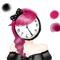 Clock Faced Girl by frogy106