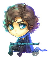 Sulking Sherlock by BloodlineV