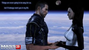 Miranda and Shepard ME3 wallpaper by Cain69